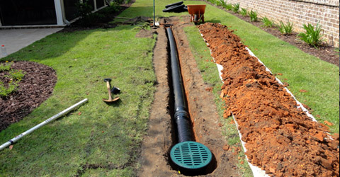 Advanced irrigation services creative outdoor lighting for Rain drainage system